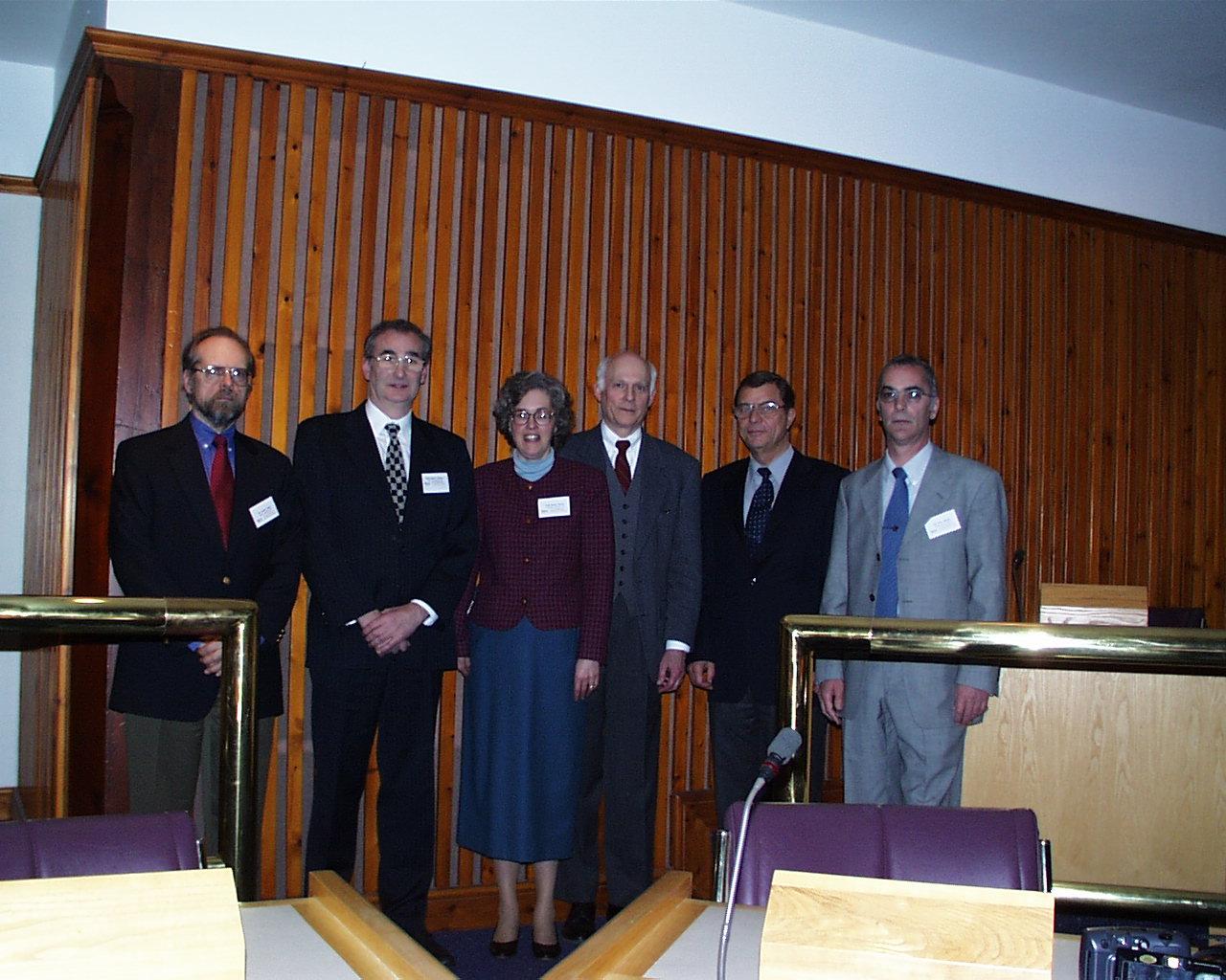 Bruker Prize winners 2002 Sandra and Gareth Eaton with Bruker representatives